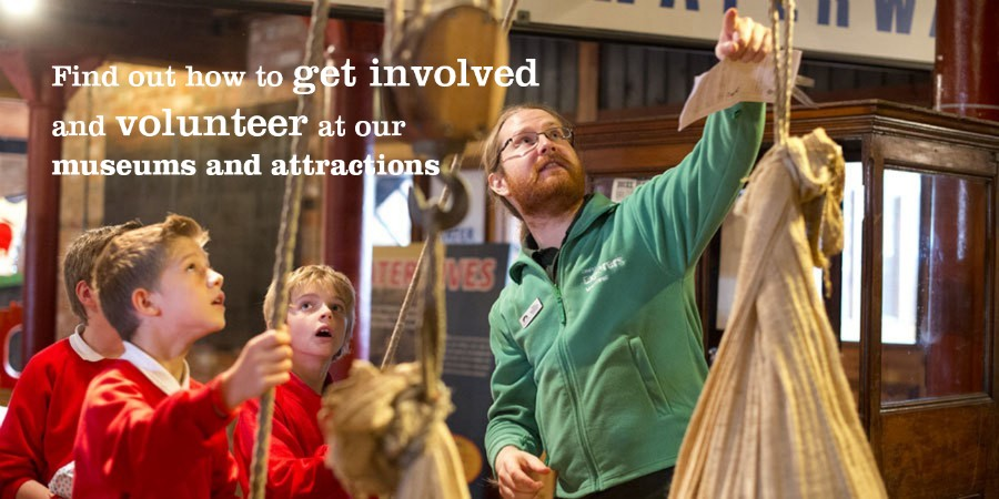 Get involved with our museums and attractions