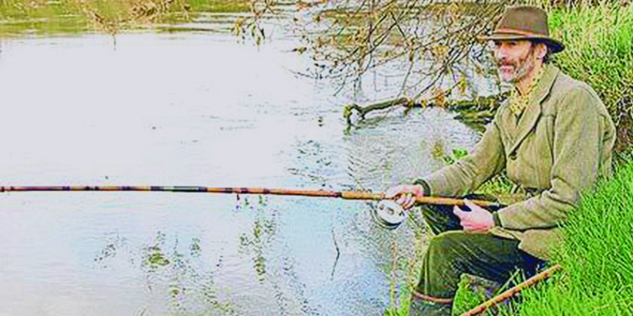 Chris Yates fishing from the bank