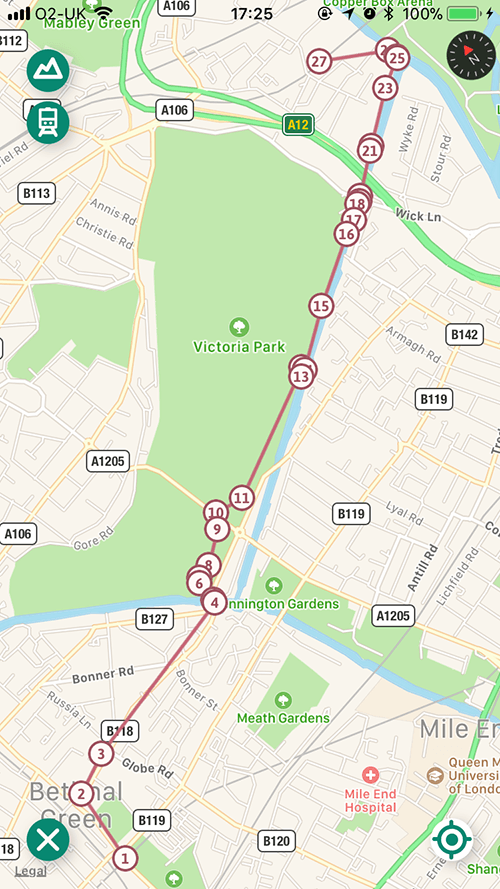 Hertford Union walking map