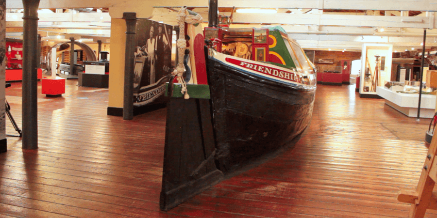 Boat displays at the National Waterways Museum