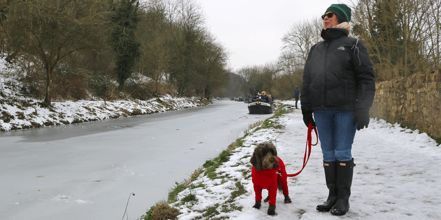 A wintery walk on the Kennet & Avon Canal