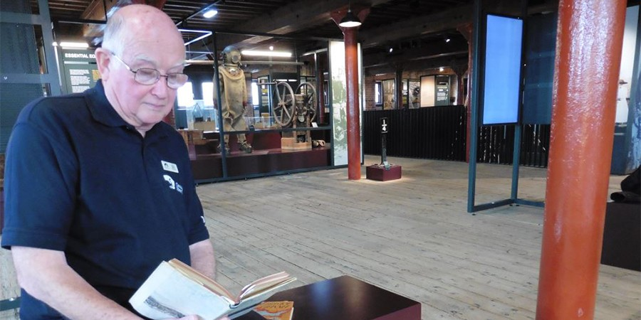 Chris Witts, volunteer at the National Waterways Museum Gloucester