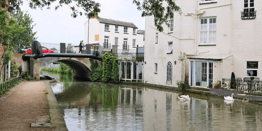 The Grand Union Canal at Leamington Spa