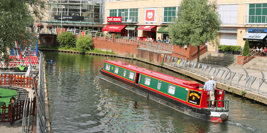 The Kennet & Avon Canal in Reading