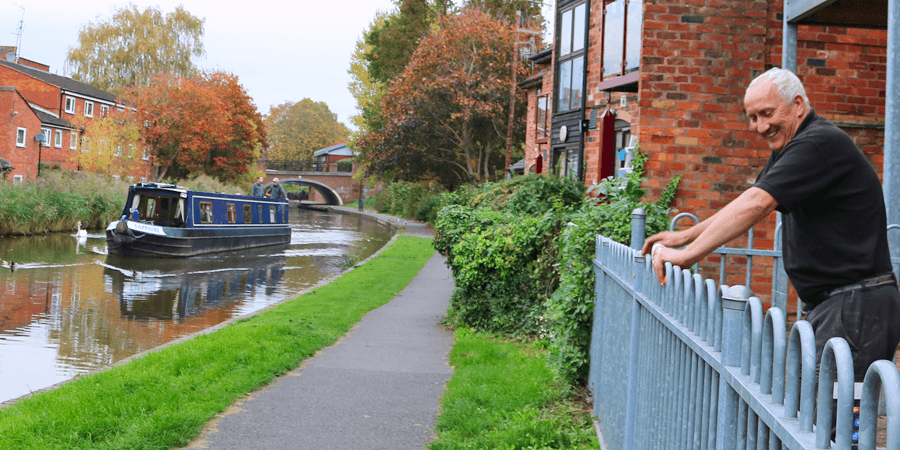 Tony by the Worcester & Birmingham Canal