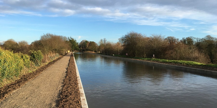 Middlewich Branch back in water following the breach restoration