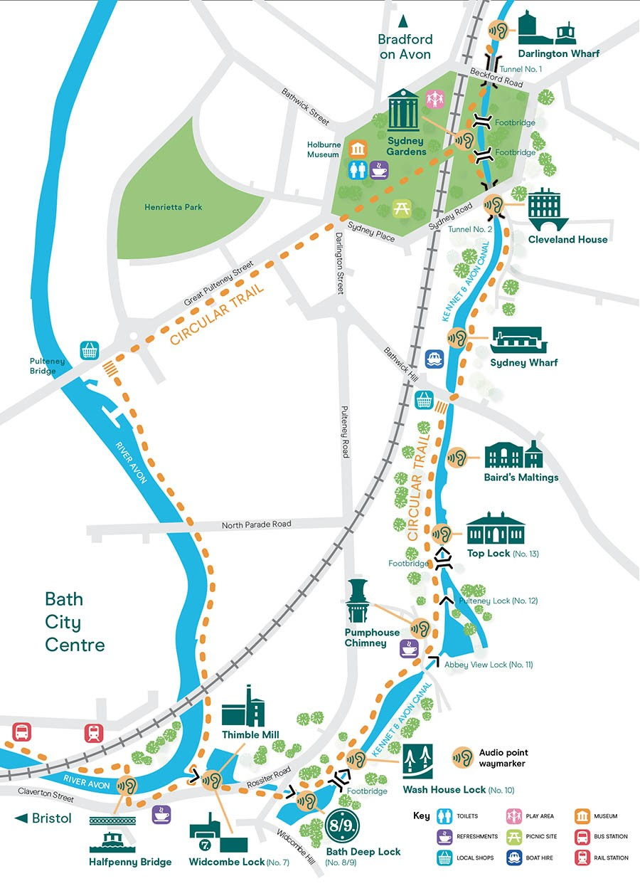Kennet & Avon Bath Flight Map