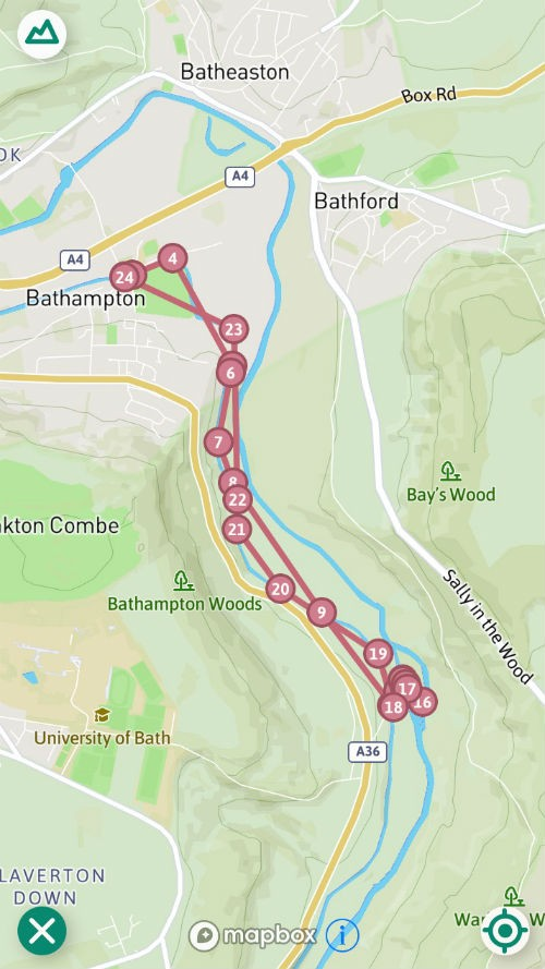 map of walk in bathampton