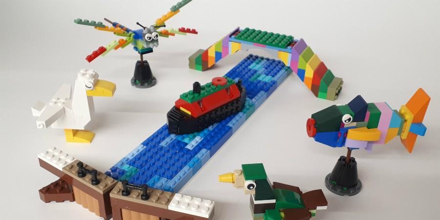 LEGO canal scene