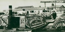 Mendip - composite (steel sides and wooden bottom) motor narrow boat