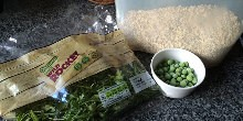 Frozen peas, lettuce and oats