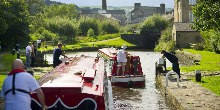 Hire boats at Sowerby Bridge