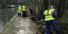 Hebden Bridge Towpath repairs