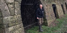 Ecologist Mark Robinson at Brecon Lime Kilns