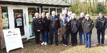 Greeter volunteers at Fradley Welcome Station