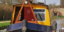A yellow boat