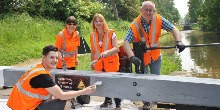 Volunteers from Network Rail