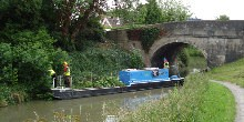The Avon Vale work boat volunteers