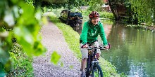 Cyclist on the Erewash Canal