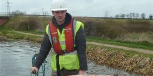 Jake, volunteer on the Grantham Canal