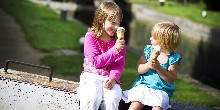 Girls eating icecream