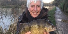 Martin Salter with 3lb perch