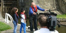 photo of CBeebies filming at Bingley