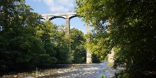 Pontcysyllte Aqueduct from the River Dee below