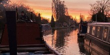Stoke Bruerne boating at sunset