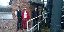Dressing up at Anderton Boat Lift