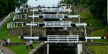 Bingley Five Rise locks wide shot