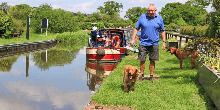 Chris at Llangollan Canal