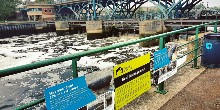 Seal signs at Tees Barrage