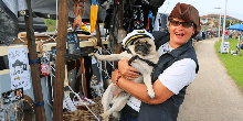 Heidi & Captain Pugwash and their pirate boat