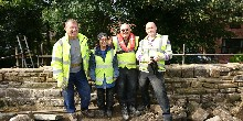 Jodie with a Towpath Taskforce team