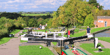 Foxton Locks in the sunshine