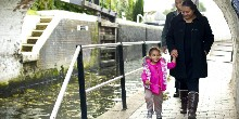 Family walking in Hanwell