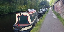 Boats on the Rochdale Canal, Hebden Bridge