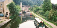 Boating into Hebden Bridge