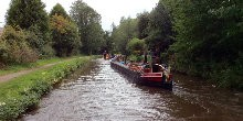 Historic narrowboats Nuneaton and Brighton carrying coal