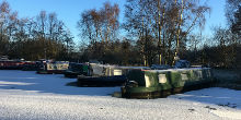 Winter day in Melbourne Arm Moorings, Pocklington Canal