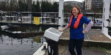 Katy, volunteer lock keeper in London