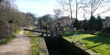 The locks at Turnerwood: Chesterfield Canal