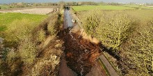 Middlewich breach from the air