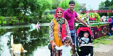Family at Blackburn Canal Festival