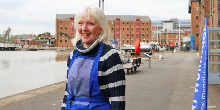 Janice, running an art gallery at Gloucester Docks