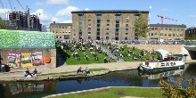 Granary Square, the new Kings Cross canalside place to sit