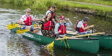 Canoeing sessions at the North West summer roadshows