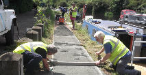 Towpath repairs at Broxourne