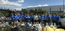 Volunteers from Morgan Stanley at Bow Locks